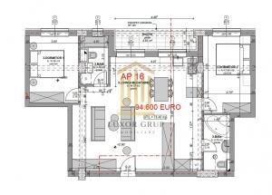 Direct Dezvoltator | Apartament 3 camere | Balcon | 76 mpu