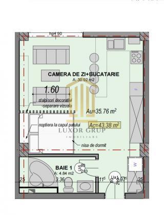Direct dezvoltator | Garsoniera | Etaj 2 | Zona Turnisor