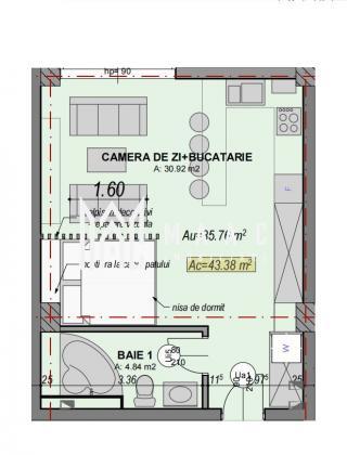 Direct dezvoltator | Garsoniera | Etaj 1 | Zona Turnisor