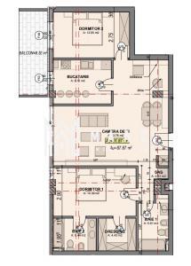 Direct dezvoltator   Apartament 3 camere   88 mpu   Etaj 2