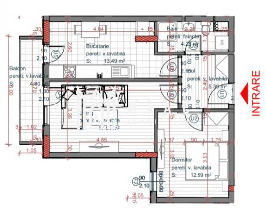 Direct dezvoltator   Apartament 2 camere   Etaj 1   Turnisor